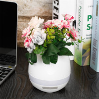 Music Flower Pot Smart Bluetooth Speaker Touch Piano Music Playing Wireless Flower Pots with Night Light speaker