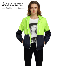 Sexy Suit Zipper Jacket Women Nylon 2017 Autumn Fashion Jacket Hooded Basic Plus Size Casual Thin Windbreaker Female Outwear