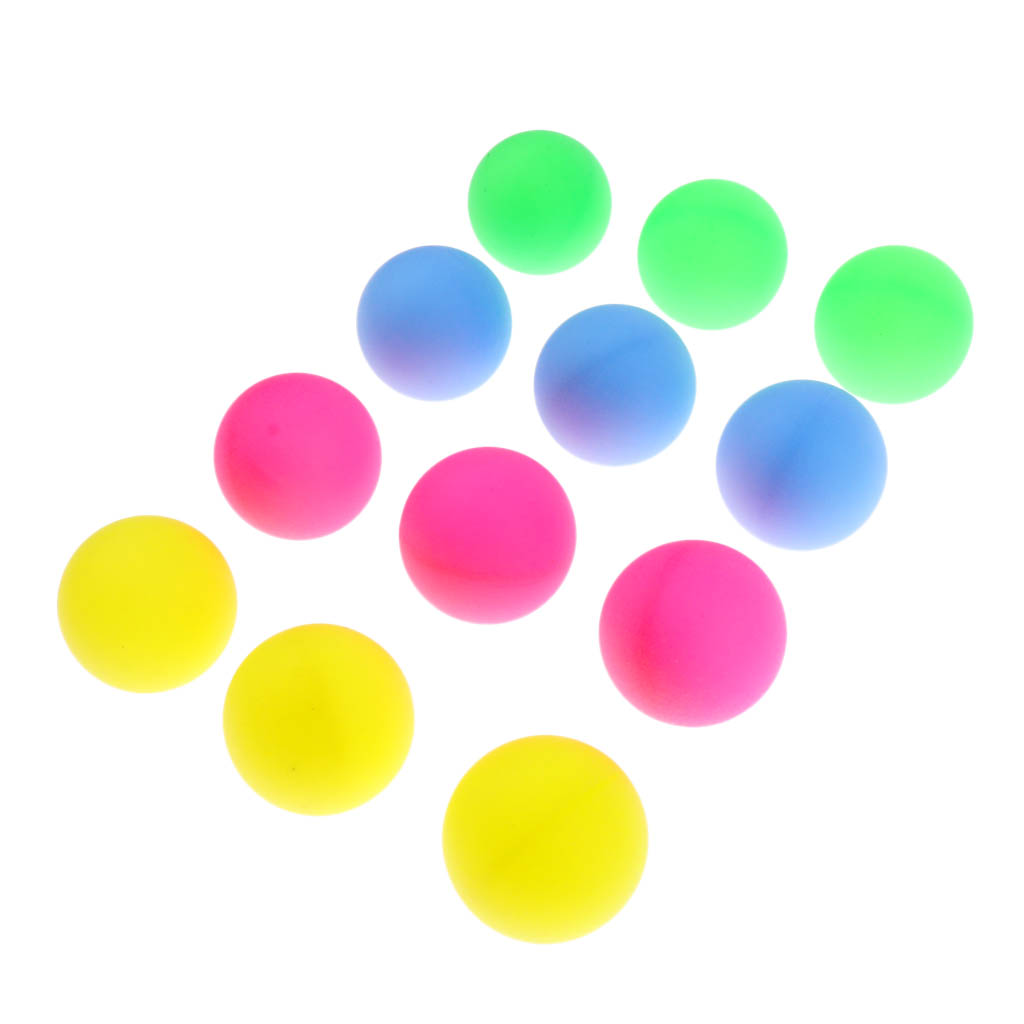 12 Pcs Colorful Beer Ping Pong Balls Table Tennis Decor Balls Multi-functional Ping Pong Ball Entertainment Toy Gift Mix Colors