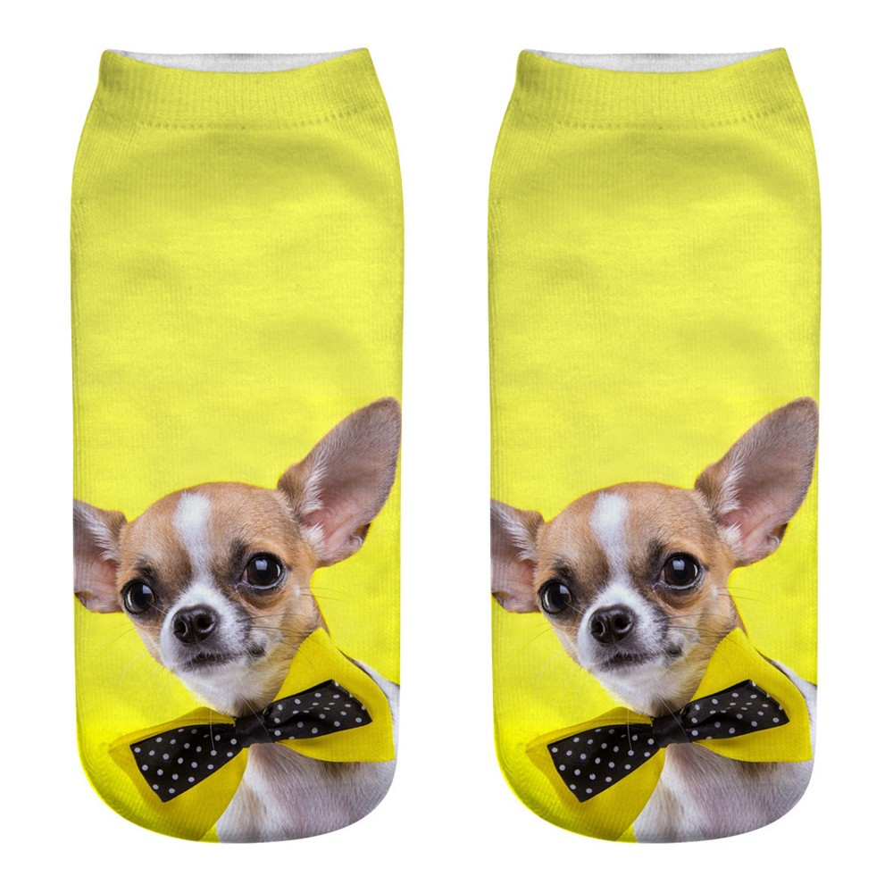 Unisex Cute Casual Business Socks 3D Dog Printing Medium Sports Socks Cute dog print 3D socks Sports Socks Multicolor New A30525