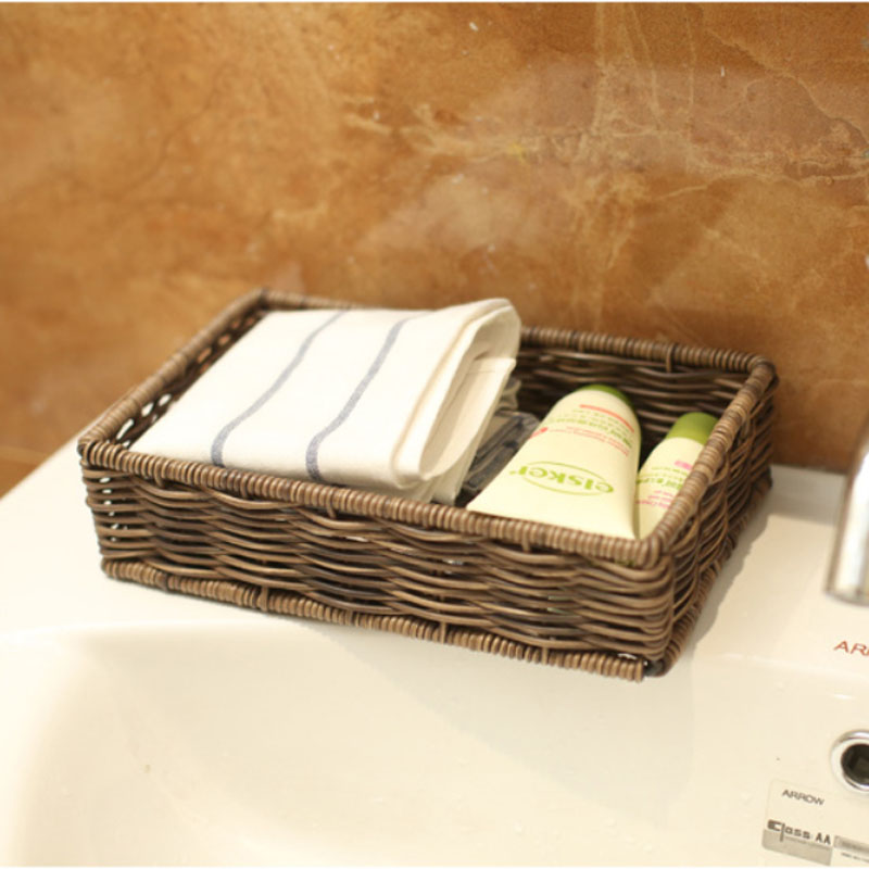 Large Desktop Waterproof Sundries Storage Baskets Iron Wire Plastic Basket Bathroom Commode For Bath Towels Toiletries In From