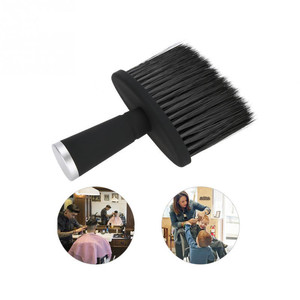 Image 2 - Professional Soft Black Neck Face Duster Brushes Barber Hair Clean Hairbrush Beard Brush Salon Cutting Hairdressing Styling Tool