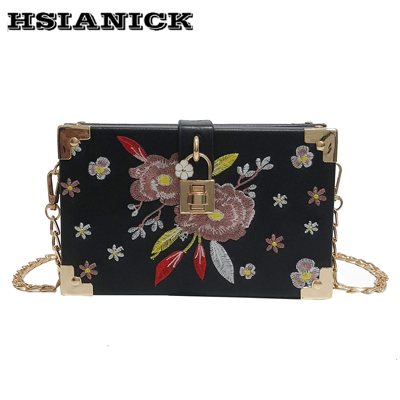 Summer small clutch bag female 2018 new design flower embroidered shoulder bag Messenger bag fashion chain small square handbag 2017 120cm diy metal purse chain strap handle bag accessories shoulder crossbody bag handbag replacement fashion long chains new