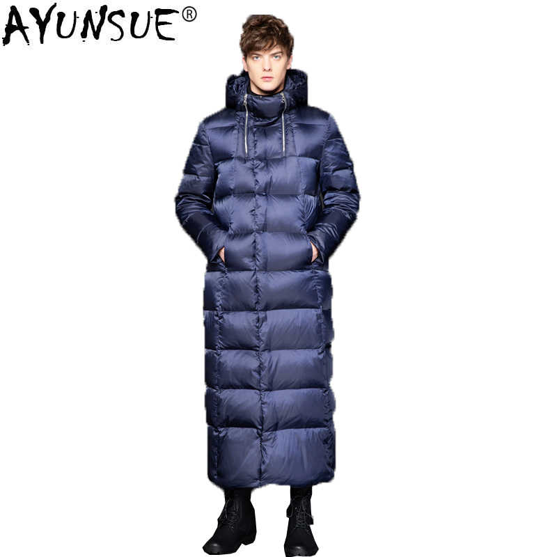 f7fdc25f3 AYUNSUE 2018 New Goose Down Jacket Men Long Thick Korean Men's Winter  Jackets Down Coat puffer jacket Doudoune Homme KJ1335