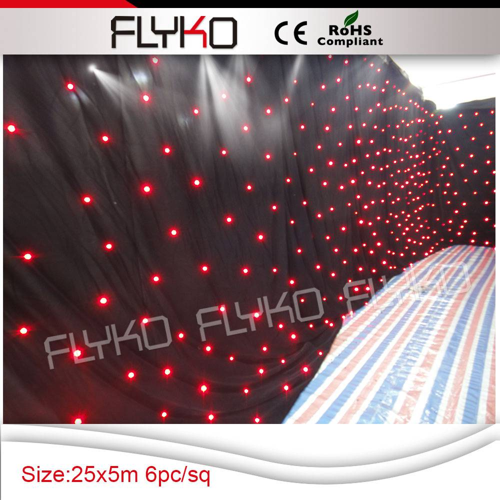 25M*5M with stand stage lighting equipment, led star cloth hot selling