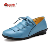 Women Flats Shoes 2017 Spring Comfortable Slip On Outdoor Driving Shoes Women High Quality Genuine Leather
