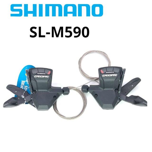 Shimano DEORE SL M590 9 S 27 S 9 vitesses vélo manette de vitesse levier déclencheur vtt vélo pièces manettes de vitesse avec câble une paire livraison gratuite
