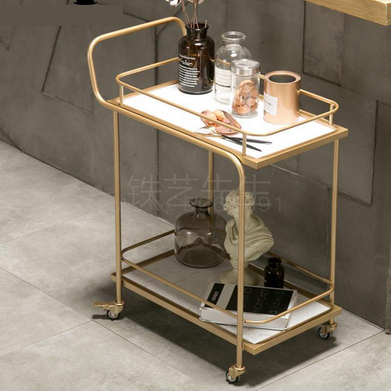 Европейский Золотой отель питьевой тележки Ресторан Мобильная тележка креативный край чайная тележка домашние хозяйства