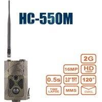 HC550M HD 트레일 디지털 사냥 카메라 MMS 16MP 0.5 초 트리거 GPRS GSM 카메라 샤쓰 HC-550M 무선 게임 카메라 사진 트랩