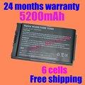 Jigu envío libre 4400 mah 6 celdas de batería portátil para hp nc4200 nc4400 tc4200 tc4400