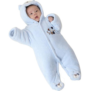 Image 4 - 신생아 아기 Rompers 만화 후드 겨울 아기 의류 두꺼운 면화 아기 소녀 의상 아기 소년 점프 슈트 유아 의류
