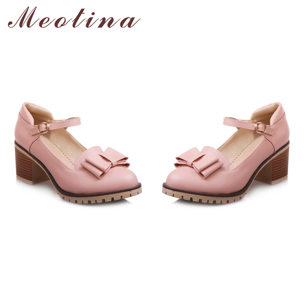 Meotina Damen Pumps Lolita Schuhe Plattform High Heels Rosa Mary Jane - Damenschuhe - Foto 4