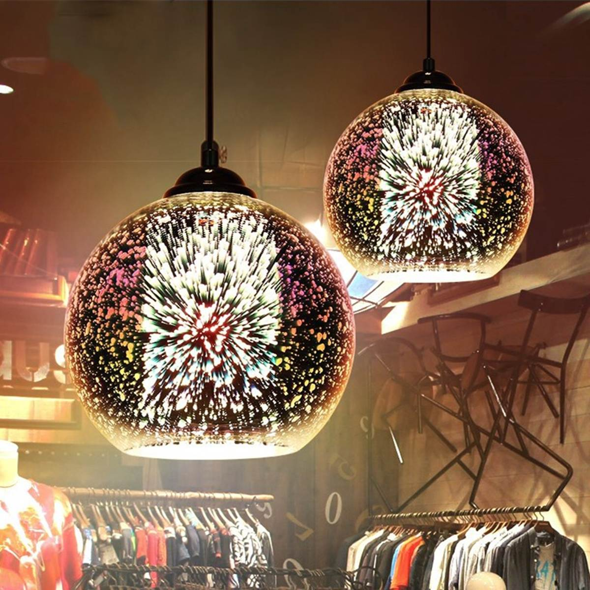 Colorful Modern Glass Ball Shape Pendant Light Round Panel Night Lamp Living Room Hallway Coffee Shop Home Decor Indoor Lighting modern glass round white ball brass pendant light led chain cord copper lamp fixture for living room window shop home decoration