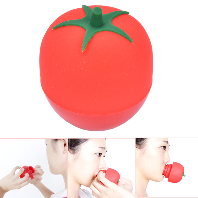 Red Tomato 1pc Silicone Women Lip Pump Plumper Enlarger Ger Suction Tools Full Enhancer