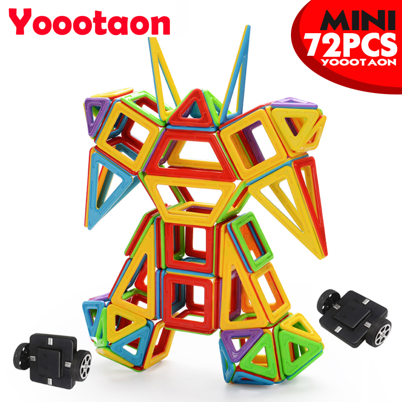 Solid color 72PCS  Magnetic Building Blocks Toy Magnetic Kids Toys Mini 3D DIY Learning Educational Toy Bricks 68pcs magnetic building blocks educational toys for kids