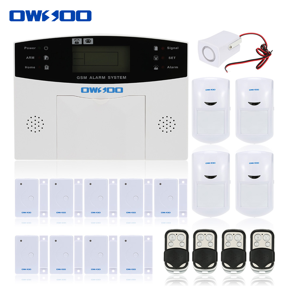 OWSOO Wireless GSM Alarm System LCD Display Door Sensor Home House Burglar Security Alarm System SMS Alert Auto Dialer