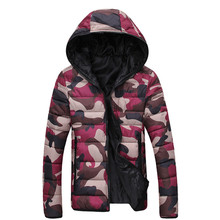 Free shipping 2016 new men's clothing winter jacket with hoodies outwear Warm Coat  fashion camouflage winter jacket  HK099