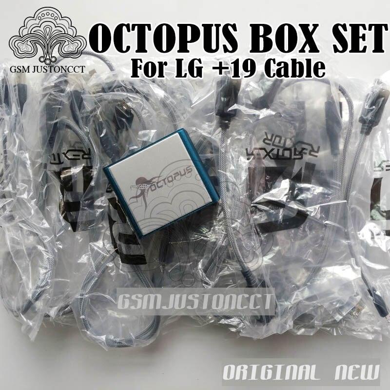 2018 ORIGINAL NOUVEAU Octopus boîte/Octoplus box pour LG avec 19 câbles de réparation et flash de receller officiel + + + + livraison gratuite