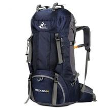 Climbing Bag Hiking Backpack 60L Climb Rucksack Camping Trekking Travel Bag Kapasitas Besar Waterproof Outdoor Bags Rain Cover
