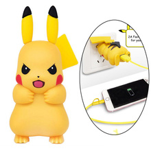 Cute Pikachue Mobile Phone Adapter USB Power Wall Charger for iPhone Xs Xr Max X 8 7 6s 6 Plus 5 5s 5c Socket