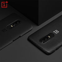 Original OnePlus 6 Bumper Case Material Aramid Fiber PC Half Round Protection 100 Official Back Cover