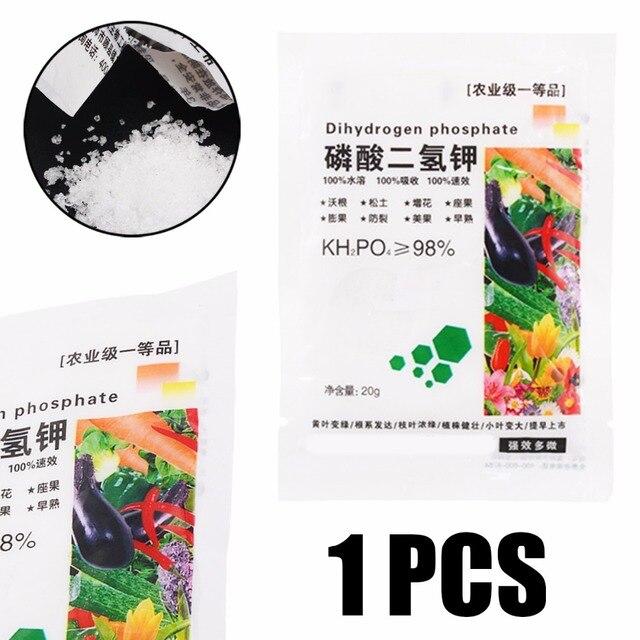 1 sacchetto di Dotassium Fosfato Monobasico per la Verdura e Fiori 20g Sgancio R