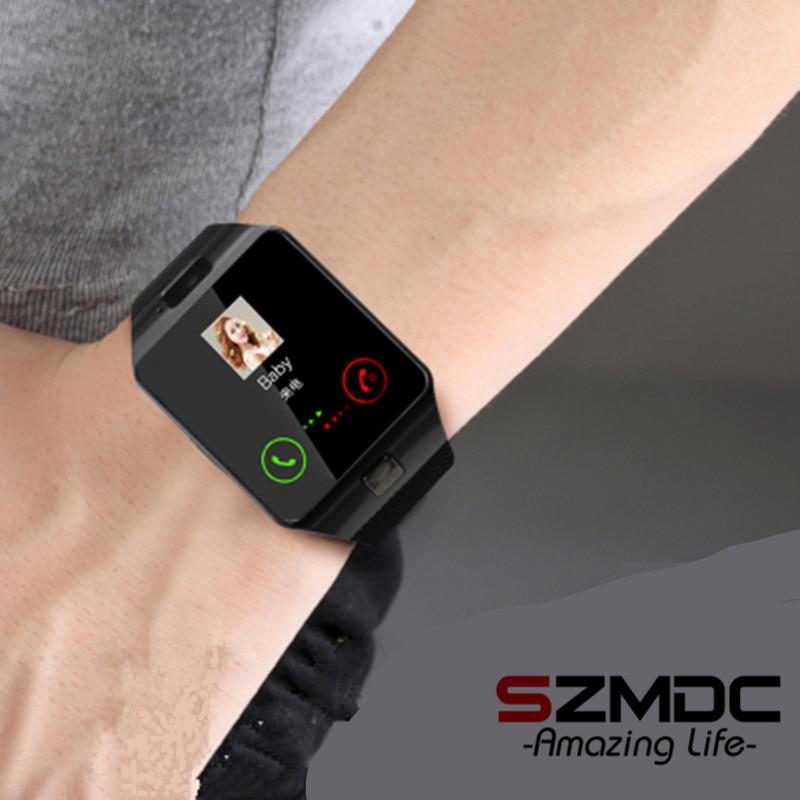 SZMDC DZ09 reloj inteligente con pasómetro Cámara SIM TF tarjeta inteligente para Xiaomi Huawei HTC teléfono Android mejor que y1 A1