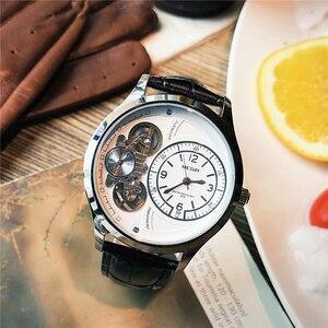 Image 4 - MEGIR Original Men Watch Top Brand Luxury Quartz Watches Relogio Masculino Leather Military Watch Clock Men Erkek Kol Saati 2017