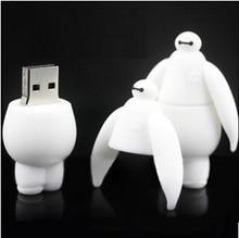 100 teile/los Cartoon Große weiße USB 2.0 USB-Stick 4 gb 8 gb 16 gb 32 gb Pen Drive usb Memory Stick usb disk angepasstes logo