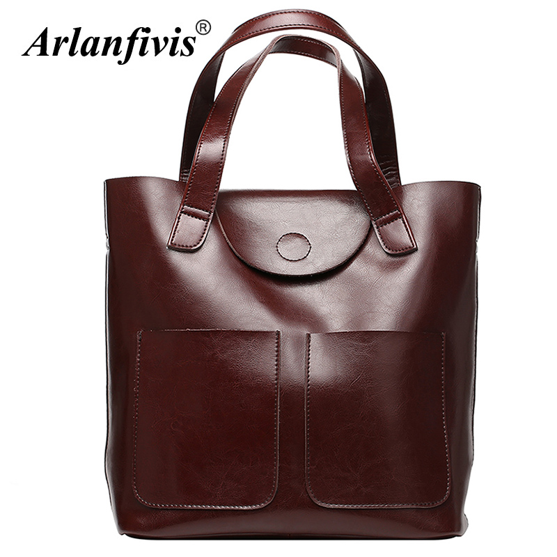 Arlanfivis Genuine Leather Bags For Women Luxury Large Capacity Handbag New 2018 Fashion bolsa feminina Ladies Tote Shopping Bag women shoulder bags genuine leather tote bag female luxury fashion handbag high quality large capacity bolsa feminina 2017 new