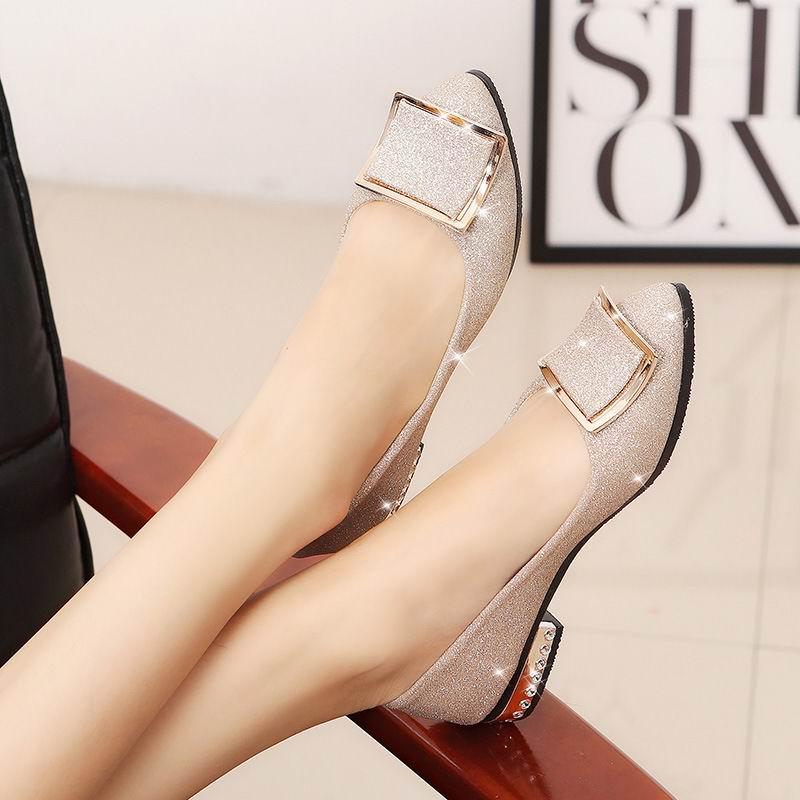 Slip Zapatos 2 plata Shallow Del Lady Mujeres Lujo On Casual Sexy Colores Nueva Llegada Plata Zapato Boda Bombas Moda Partido De Oro Oro Bling vwr8Svq