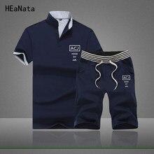 744b822d92 2019 Men T-shirt Shorts Set Men's Suits Summer Breathable Short Set  Sportsuits Design Fashion