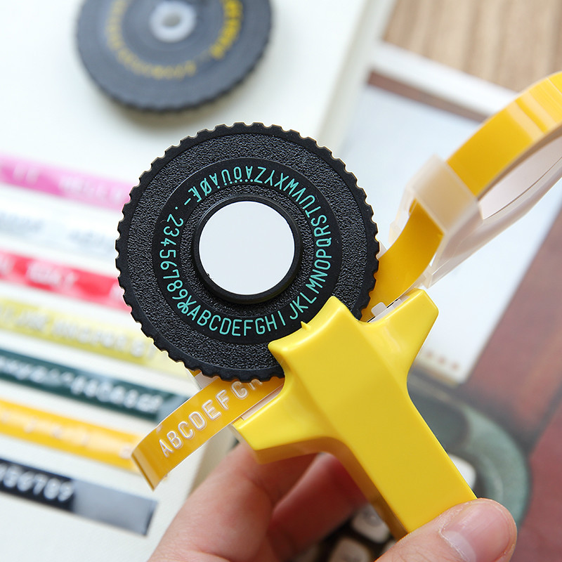DIY Label Maker Tape Writer Office Gift Label Adhesive Tagging Gun Scrapbooking Marker Embosser