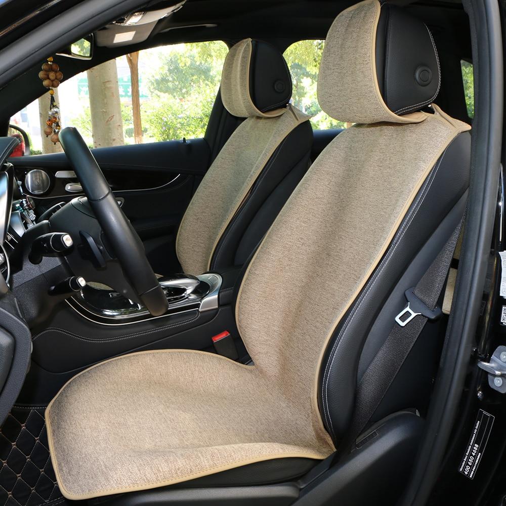 1 ピース O 市車リネンフロントシートクッション保護カーシート/エレガントなスタイルのカーシートカバーパッド 4 一般の自動車マント  グループ上の 自動車 &バイク からの 自動車シートカバー の中 1