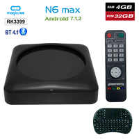 Magicsee N6 Max RK3399 Android 7,1 caja de TV 4G 32G Rom 2,4 + 5G Dual Wifi 1000 M LAN Bluetooth 4,1 Smart Box 4 K Set Top Box