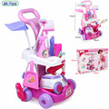New Arrival Girls play house toys Simulation children cleaning trolley with vacuum cleaner tool hygiene with gift Doll Furniture