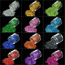 10ML/Box Holographic Hexagon Glitter 12 Colors Laser Holo Mix Nail Flakes UV Gel Polish 3D DIY Decorations FMA-01#