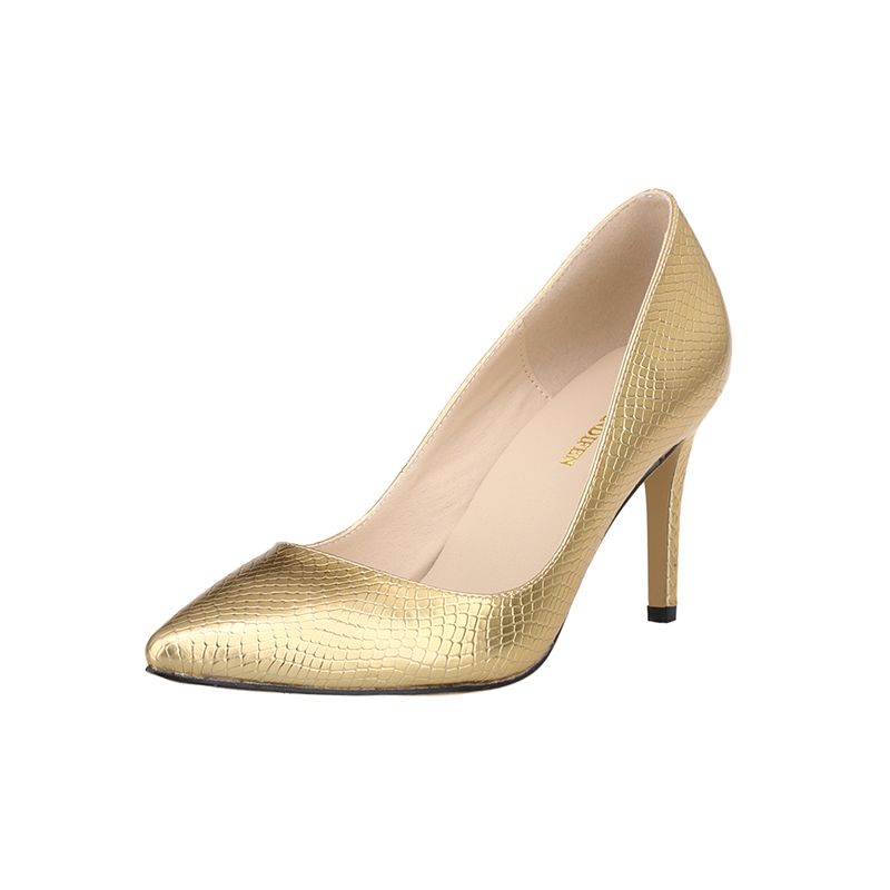 LOSLANDIFEN Women Pumps New Fashion Crocodile Pattern Pointed Toe High  Heels Shoes Woman Office Medium Heel 1cc83afb547c