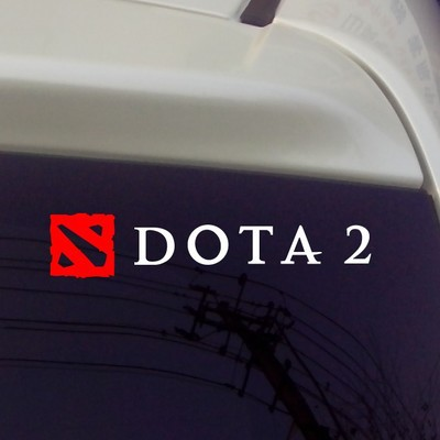 Car styling car sticker double color hollow out reflective car stickers case for dota 2