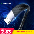 Ugreen Fast Charge Micro USB Cable Xiaomi Redmi Note 5 Pro 4 Andriod Mobile Phone Charging Data Cable for Samsung S7 Micro usb