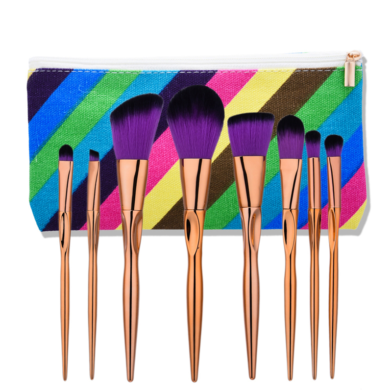 8Pcs/set heart Shape Makeup Brushes Set Beauty Cosmetic Eyeshadow Lip Powder Face Pinceis Tool Kabuki Brush Kits Pincel