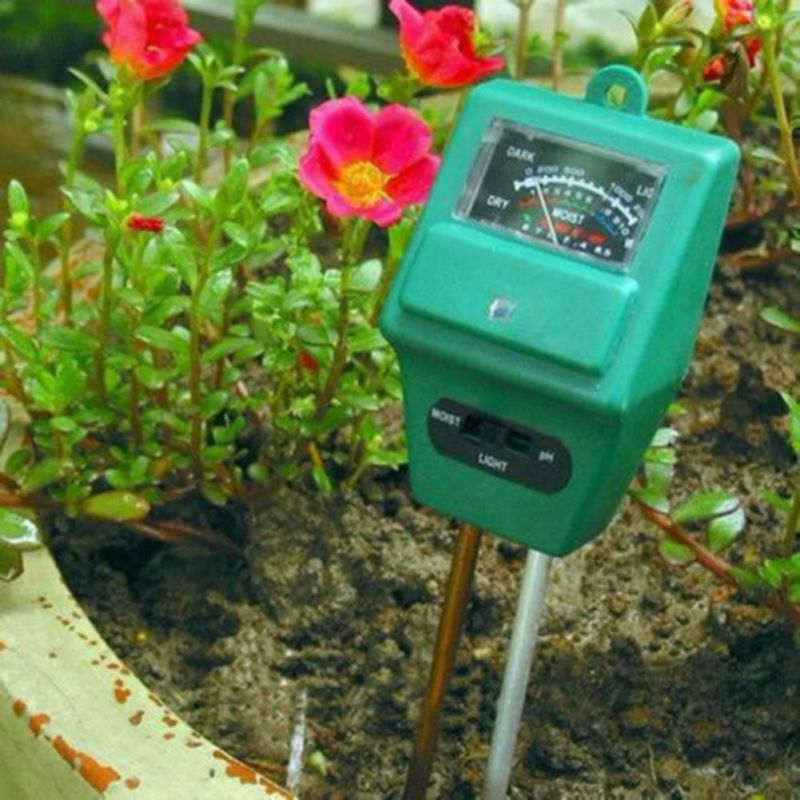 3 In 1 PH Tester Soil Detector Water Moisture Light Test Meter Sensor For  Garden Plant