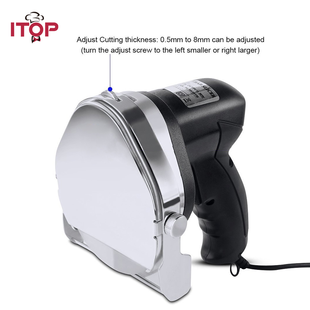 ITOP Kebab Slicer Professional and Commercial Electric Kebab Shawarma , Gyro Knife, Doner Kitchen Knives (Round Blade) itop automatic professional and comerical powerful electric doner kebab slicer for shawarma kebab knife gyros knife