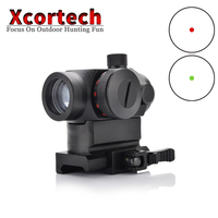Tactical Hunting QD 1X22 Reflex Red&Green Dot Scope Sight With Quick Riser Mount Quick Detach Holographic Collimator Dot Scopes