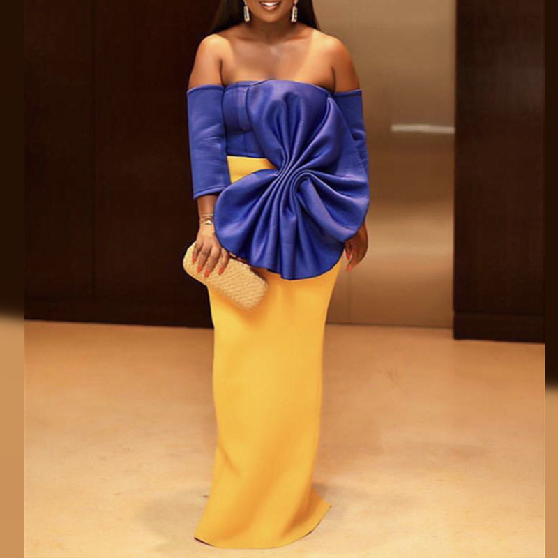 2019 New Arrival Elegent Fashion Style African Women Plus Size Dress S-XXL