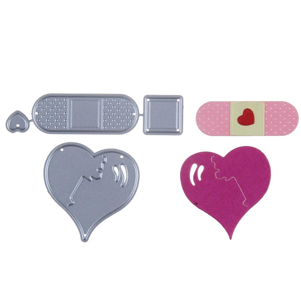 44*44mm scrapbooking DIY fashion double heart Shape Metal steel cutting die love Shape Book photo album art card Dies Cut