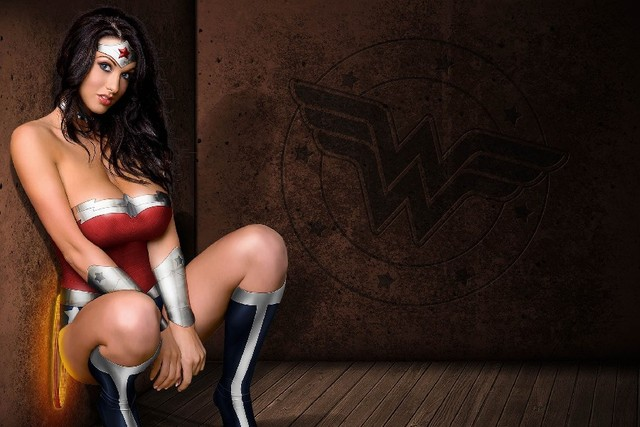 Diy Frame Wonder Woman Superhero Girl Sexy Babe Girls Cloth Silk Art Wall Poster And Prints