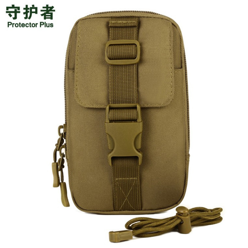 Male female waterproof nylon Wear belt pockets 5.5 inch 6 inch phone package EDC tool travel high quality inclined shoulder bag