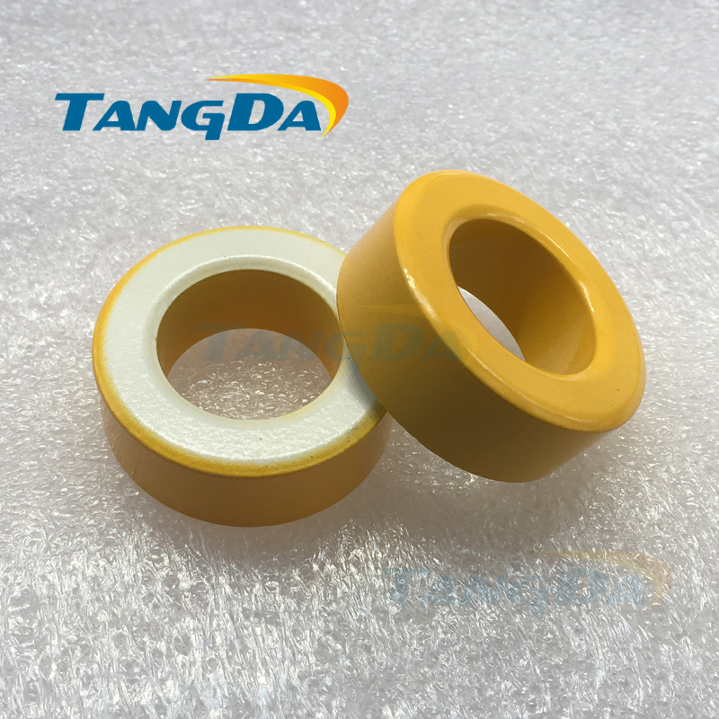 Tangda T157 26 Iron Power Cores magnetite T157-26 40*24*14.5 mm yellow white Ferrite Toroid Core iron power core with coating A. magnetite magnetite filter water treatment filter magnetite powder