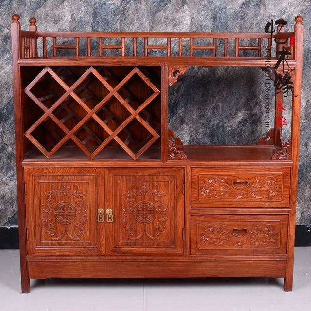 Mahogany Sideboard Modern Chinese Antique Tea Cabinet Wood Rosewood Cabinet  Cupboard Cabinets Bedroom Cabinet